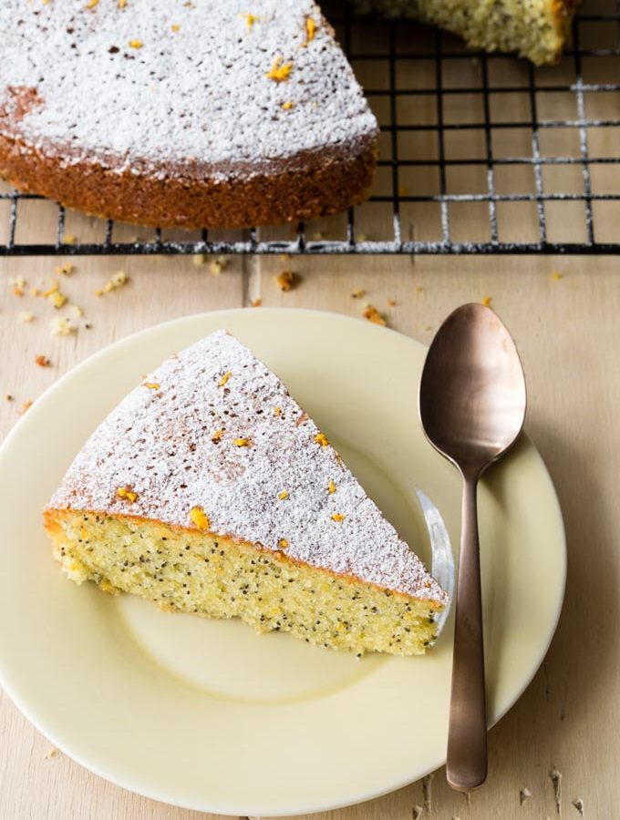 Almond Olive Oil Cake with Poppy Seeds and Orange