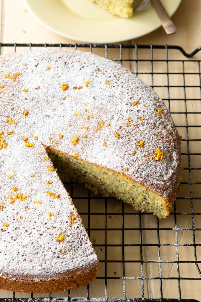 Orange Poppy Seed Cake made with Olive Oil | The Worktop