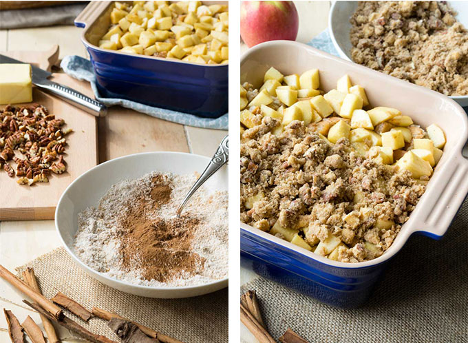 Apple French Toast Casserole - assembling casserole | The Worktop