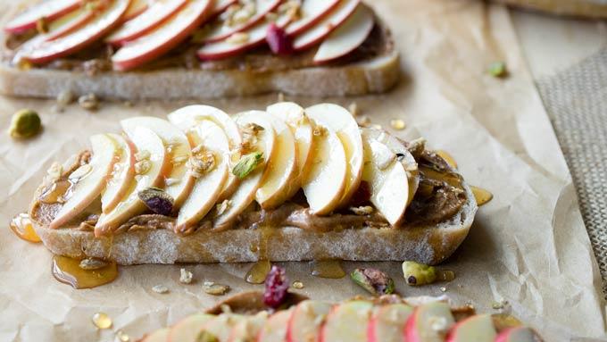 Peanut Butter Apple Toast for Breakfast   The Worktop