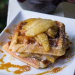 Apple Pie Spiced Christmas Waffles