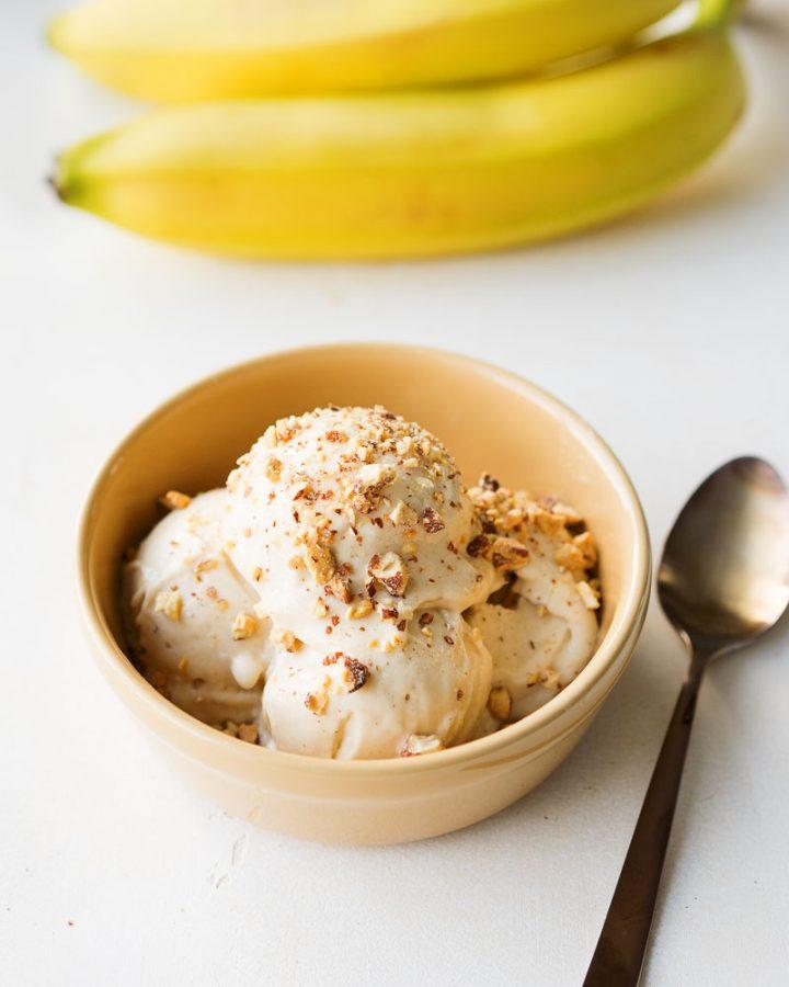 Easy Healthy Banana Ice Cream | The Worktop