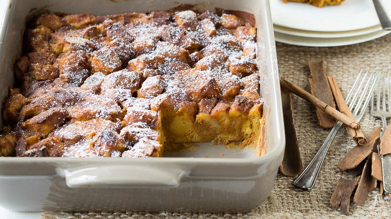 Pumpkin French Toast Casserole - Thanksgiving Breakfast | The Worktop