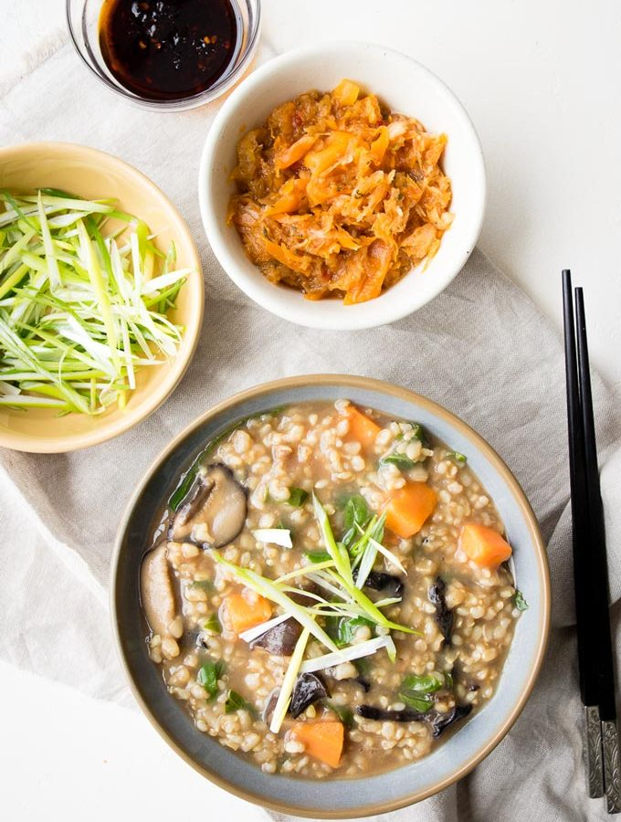 Vegetable Congee (GF, Vegan)