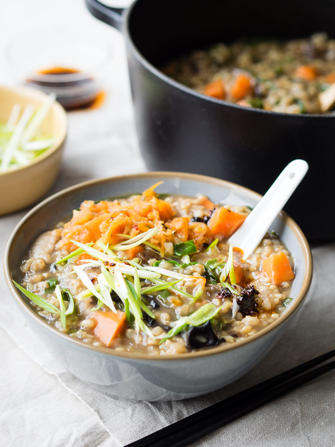 Vegetable Congee Vegan Vegetarian | The Worktop