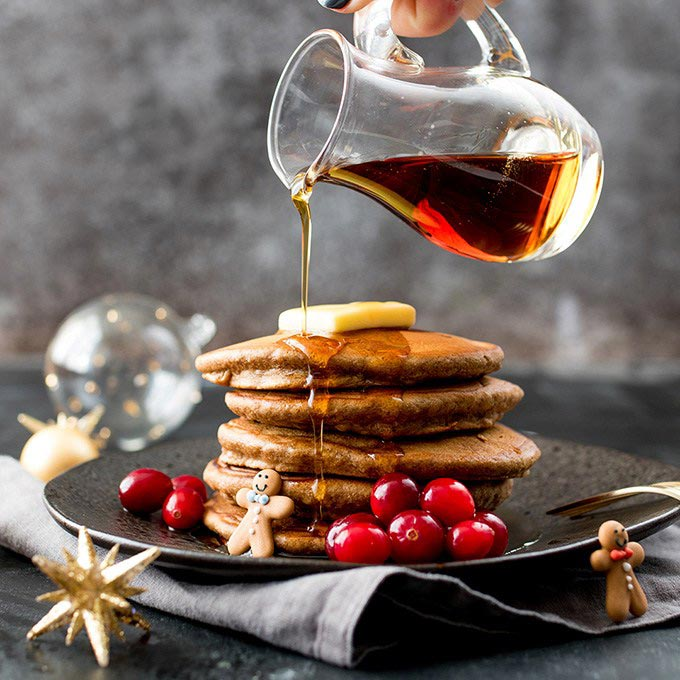 Christmas Gingerbread Pancakes Recipe