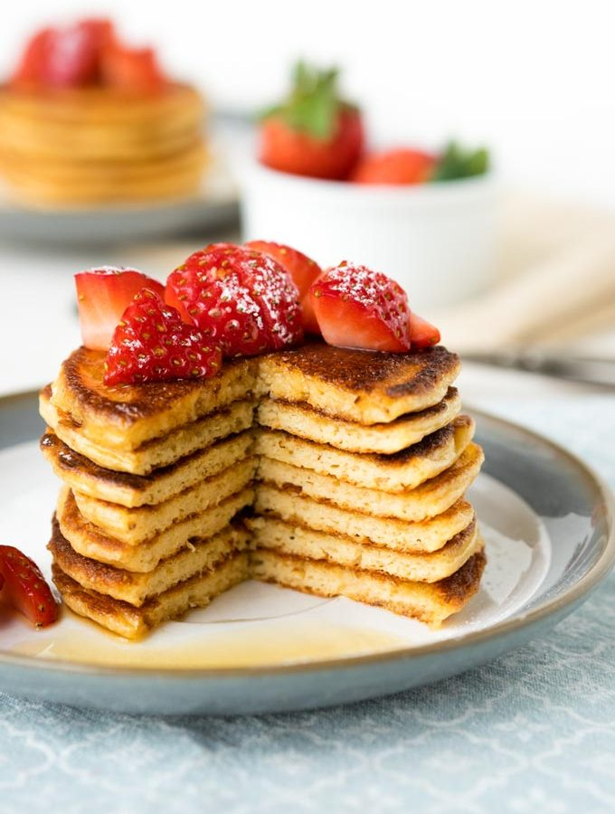 Cottage Cheese Pancakes with Oats (GF)