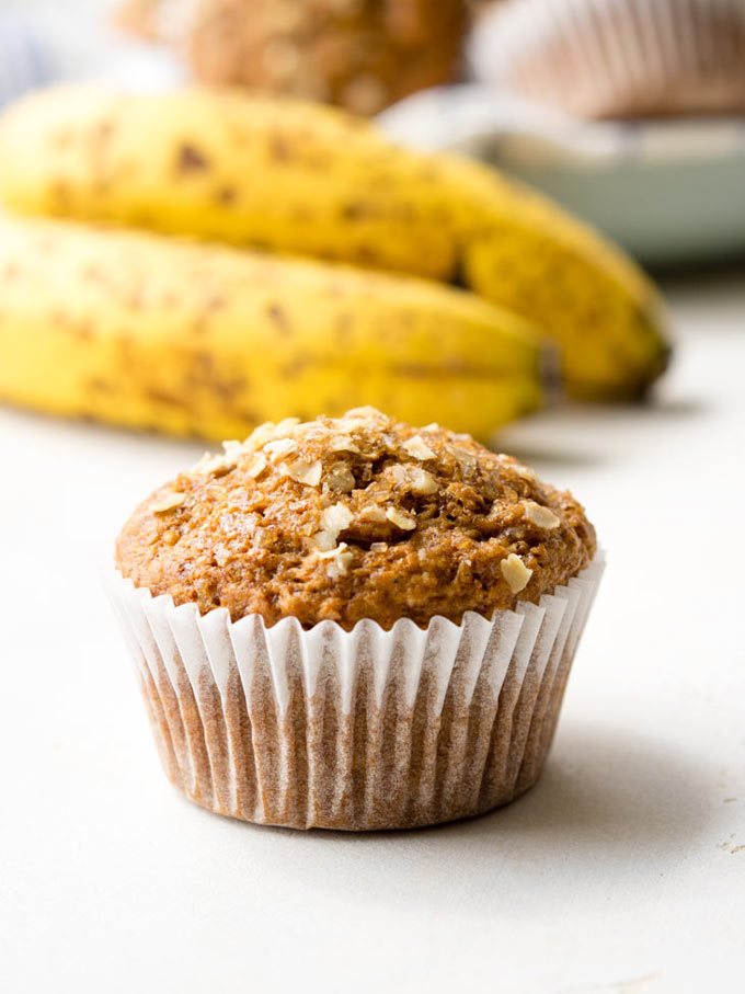 Egg Free Banana Muffins - Vegan Recipe | The Worktop