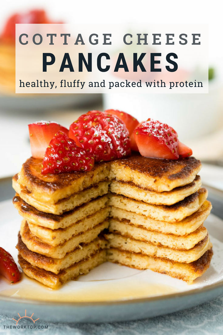 Simple Cottage Cheese Pancakes With Oats Gf Fluffy The Worktop