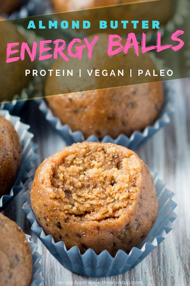 Almond Butter Energy Balls Recipe - Paleo, Vegan, Protein | The Worktop