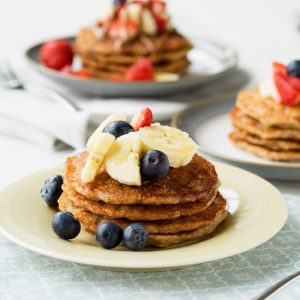 Vegan Banana Pancakes (Sugar Free and Eggless) | The Worktop