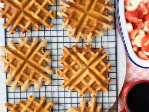 Home Made Waffles - Easy Buttermilk Waffles | The Worktop