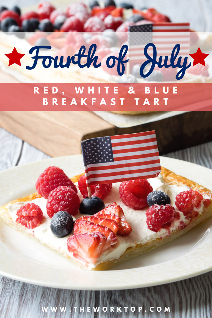 Fourth of July Breakfast Idea - Red White Blue Breakfast Tart | The Worktop