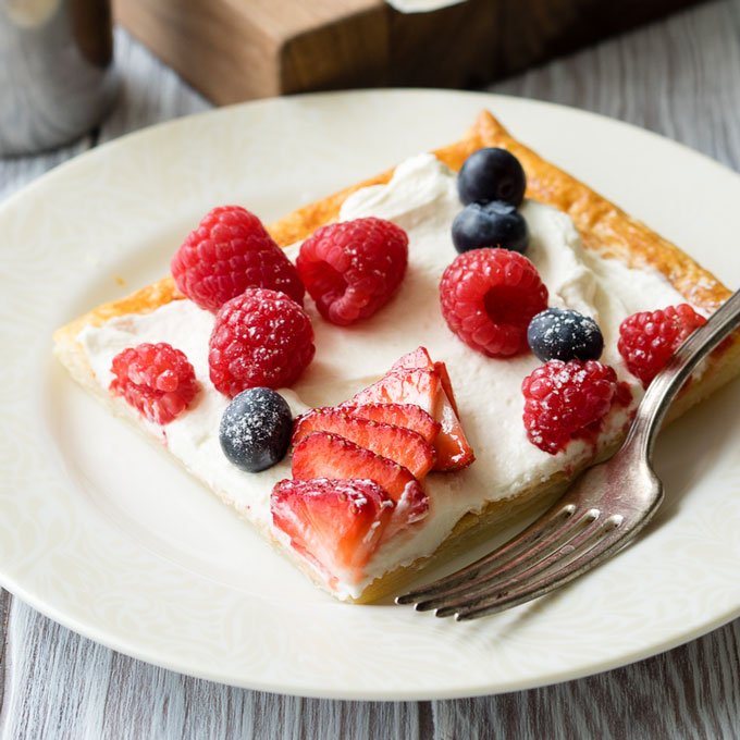 Puff Pastry Breakfast Tart with Whipped Greek Yogurt and Berries | The Worktop