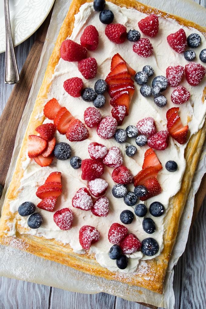 Puff Pastry Breakfast Tart Whipped Greek Yogurt and Berries | The Worktop