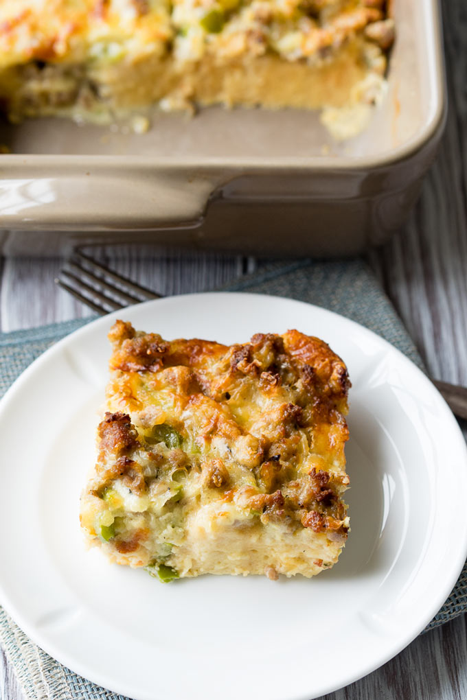 Egg Sausage Breakfast Casserole - Easy Recipe | The Worktop