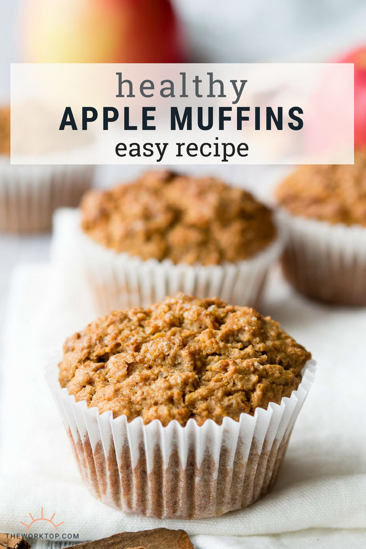 Healthy Apple Muffins - Easy Recipe | The Worktop