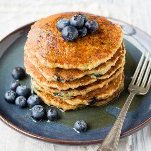 Oatmeal Pancakes Recipe - Vegan | The Worktop