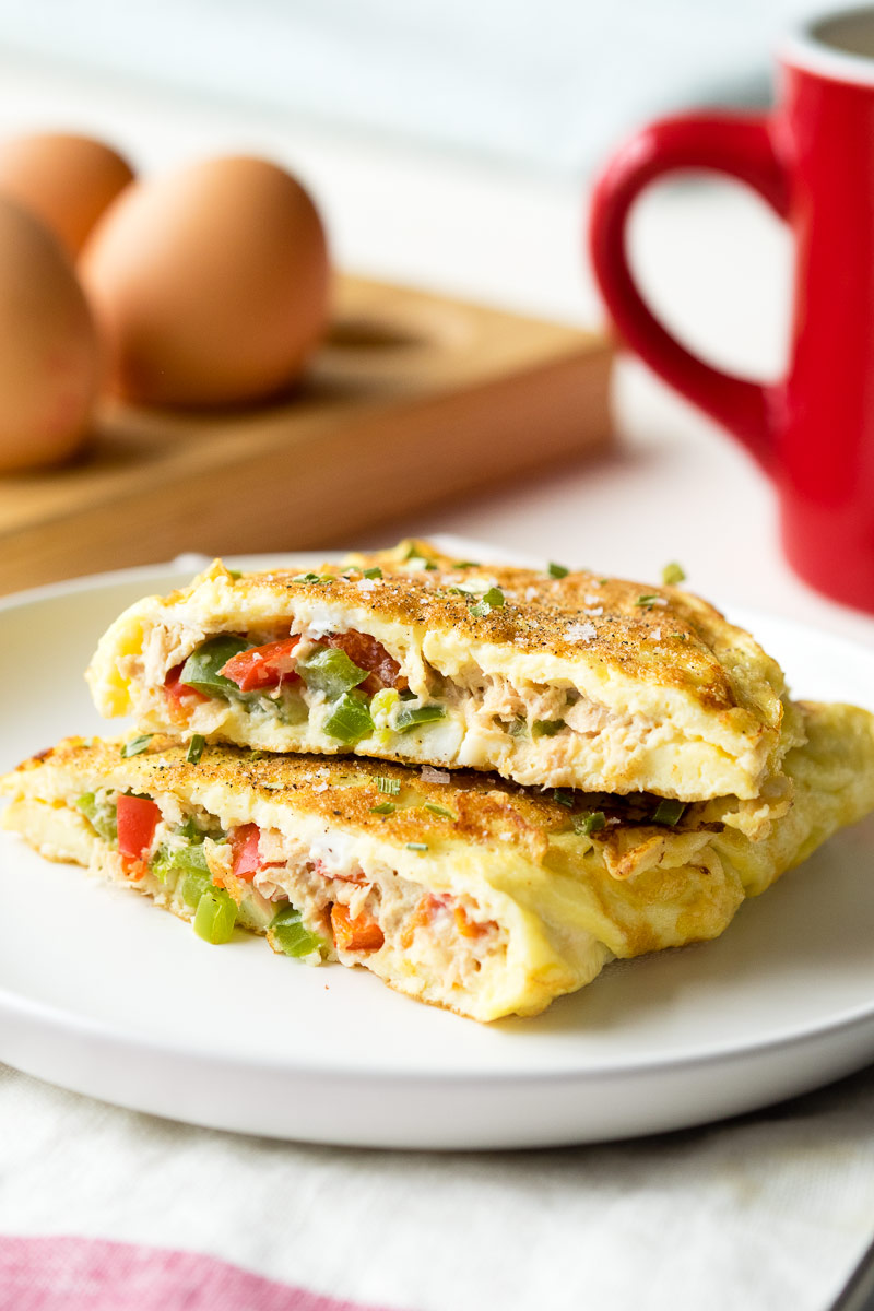 Breakfast Tuna Omelette Recipe - Healthy Weekday Breakfast Ideas | The Worktop
