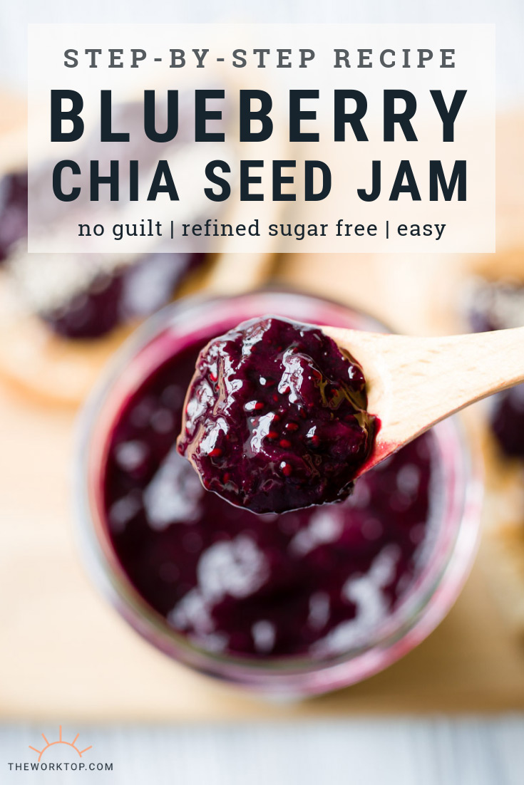 Easy Blueberry Chia Seed Jam Recipe | The Worktop