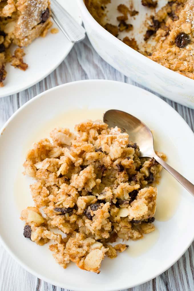 Healthy Baked Oatmeal Casserole Recipe | The Worktop