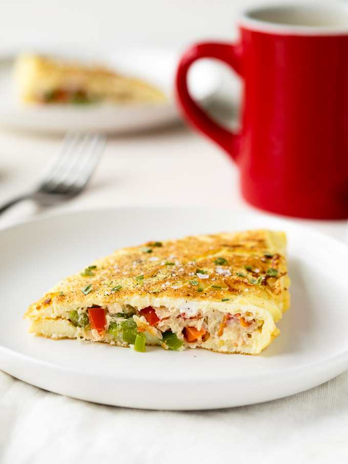 Tuna Breakfast Omelette Recipe - low carb | The Worktop
