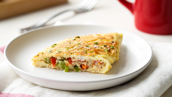 Tuna Omelette - Low Carb Breakfast Recipe | The Worktop