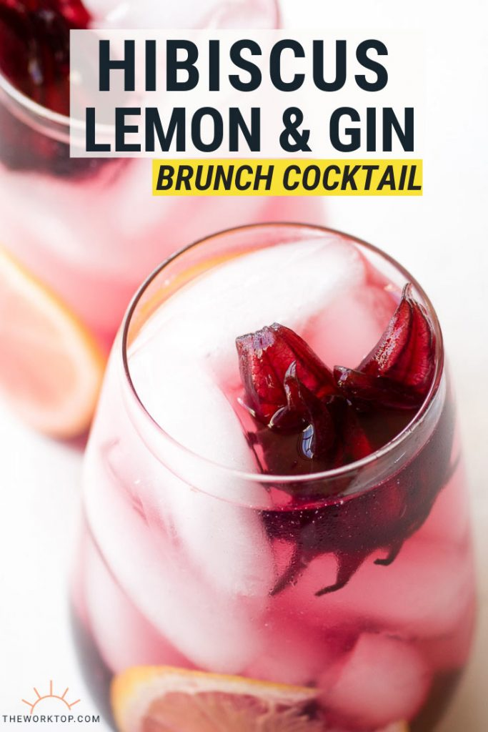 Hibiscus Lemon Gin Cocktail Brunch Recipe | The Worktop
