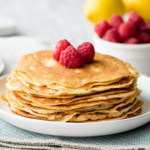 Keto Cream Cheese Pancakes Stack | The Worktop