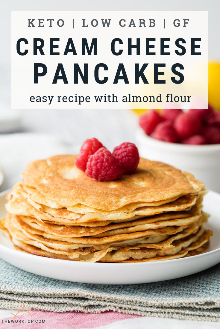 Keto Cream Cheese Pancakes - Easy Recipe with Almond Flour | The Worktop