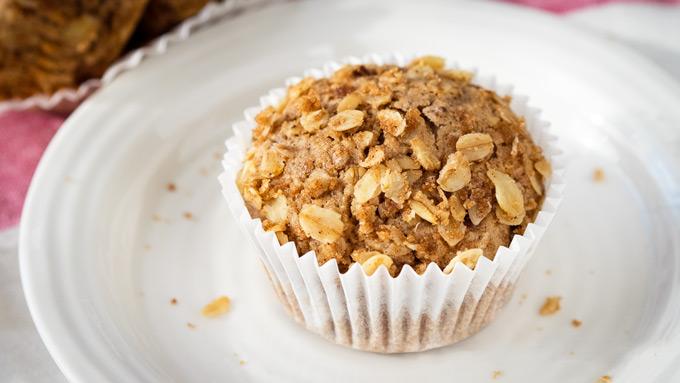 Healthy Cinnamon Muffin - Vegan Recipe | The Worktop