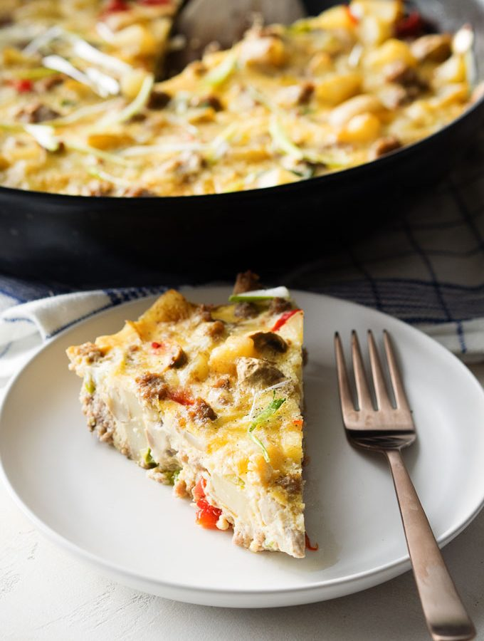 Loaded Breakfast Skillet Casserole | The Worktop