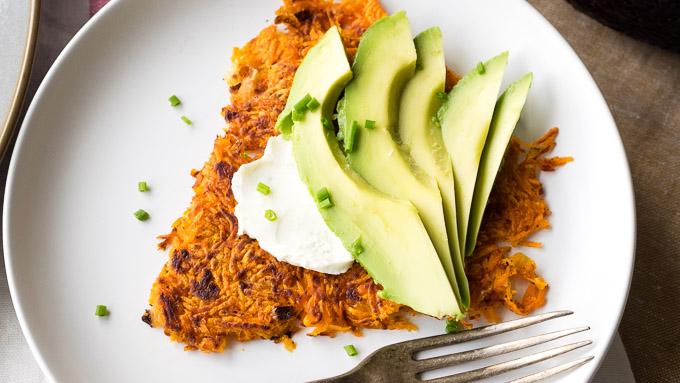 Sweet Potato Hash Browns Crispy | The Worktop