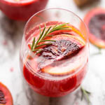 Blood Orange Rosemary Mimosa Cocktail | New Years Brunch Ideas | The Worktop