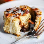 Bourbon Bacon Cinnamon Rolls | New Years Day Boozy Brunch Ideas | The Worktop