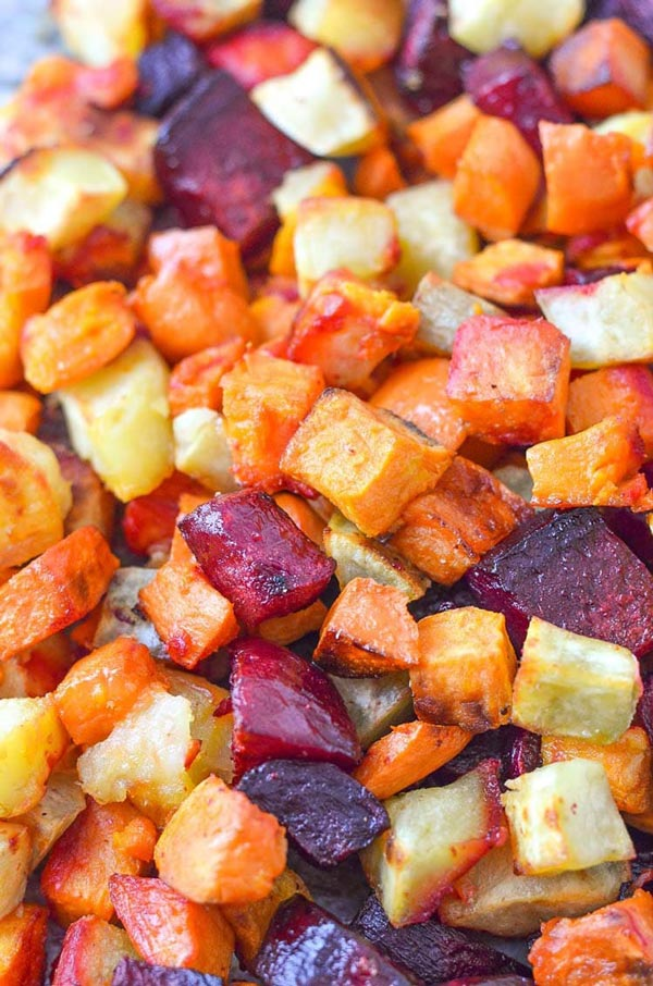 Oven Roasted Sweet Potato and Beets | Eczema Diet Recipes