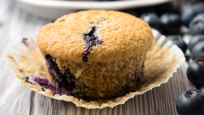 Vegan Blueberry Muffins Egg Free Recipe | The Worktop
