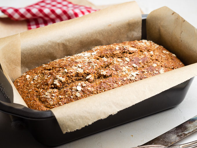 Eggless Banana Bread Loaf in Pan | The Worktop