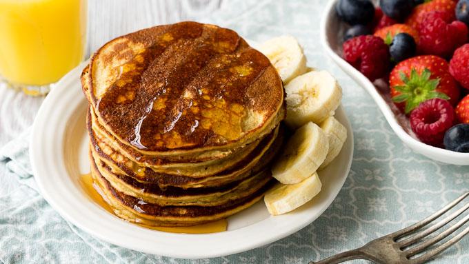 Flourless Banana Pancakes Oatmeal Stack - GF | The Worktop