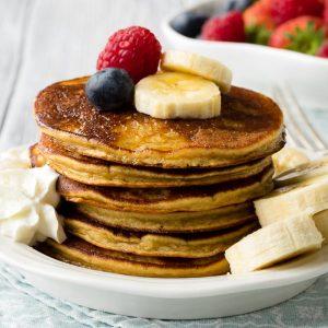 Gluten Free Banana Oatmeal Pancakes | The Worktop