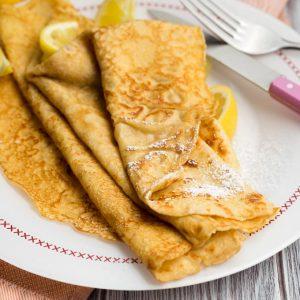 Thin Pancake Recipe with lemon and sugar | The Worktop