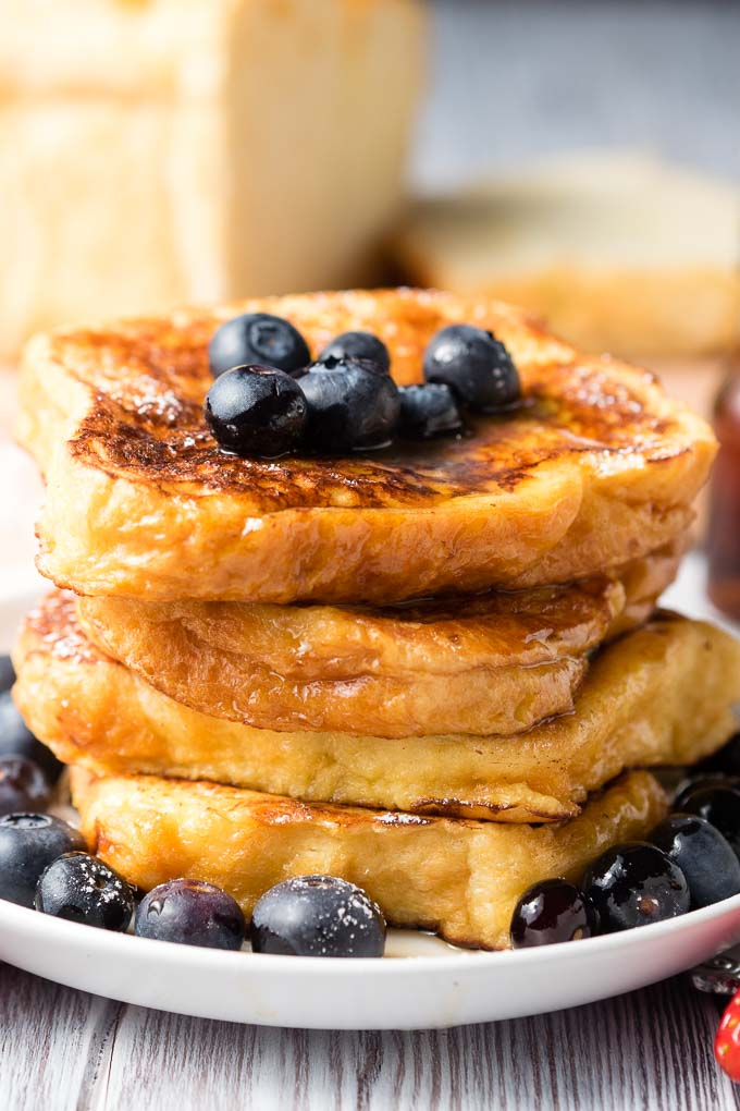 Stack of French Toast with Brioche Bread | The Worktop