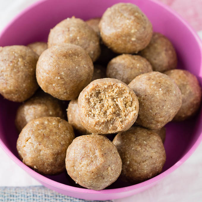 Easy Peanut Butter Balls (No Bake Recipe) (Vegan, GF)