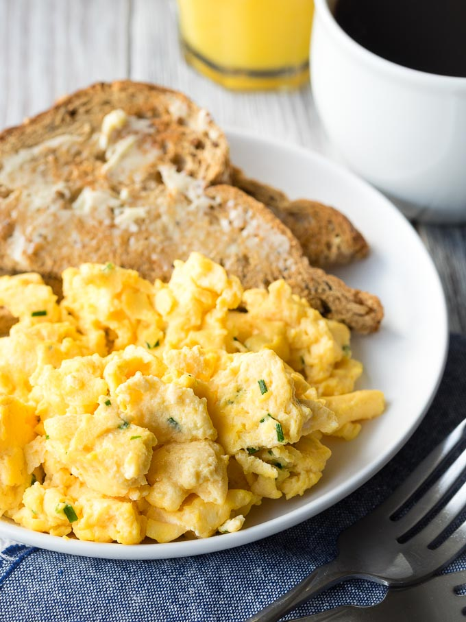 Scrambled Eggs with Cream Cheese - Best 15+ Weekday Breakfast Ideas | The Worktop