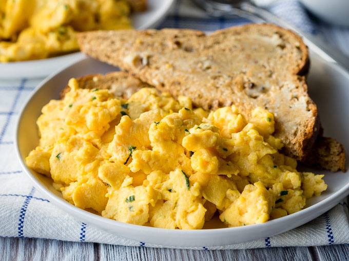 Scrambled Eggs with Cream Cheese | The Worktop