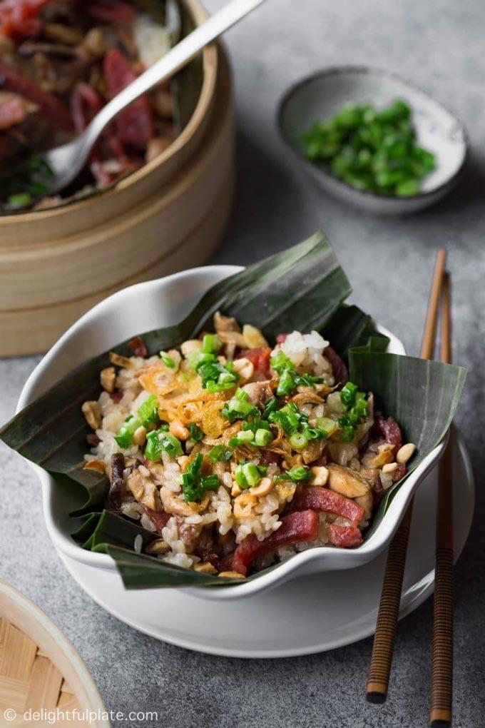 Vietnamese Steamed Chicken Sticky Rice - Chicken Breakfast Ideas | The Worktop