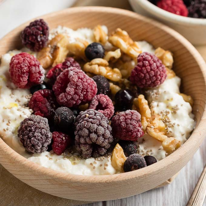 Cottage Cheese Breakfast Bowl - Diabetic Recipe | The Worktop