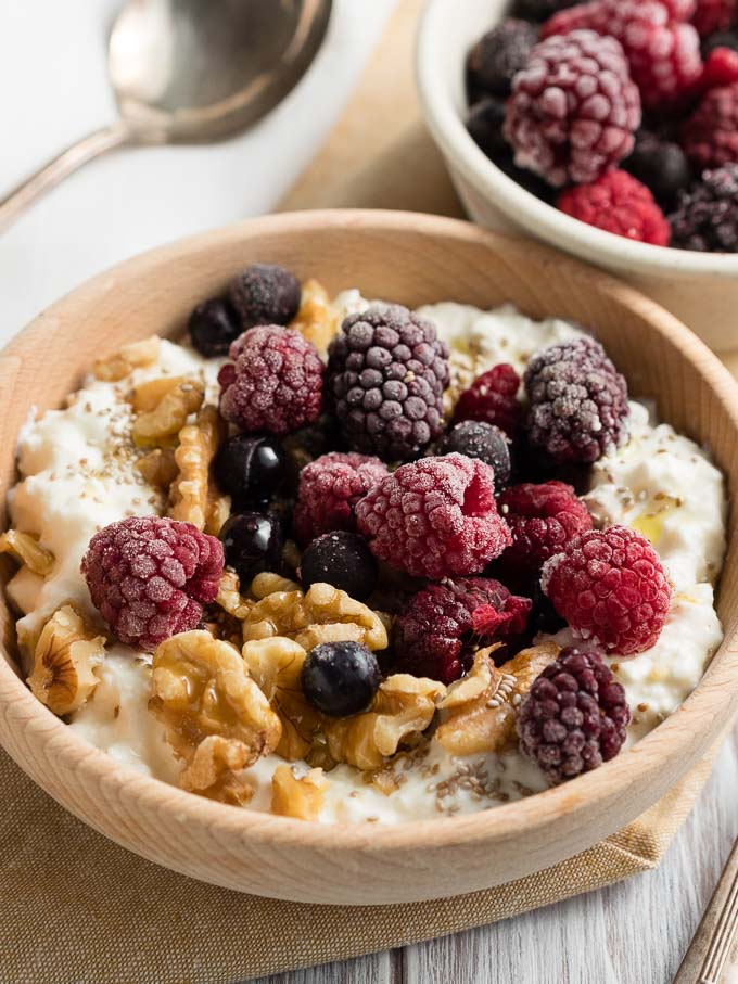 Phenomenal Cottage Cheese Breakfast Bowl Keto Low Carb The Worktop Download Free Architecture Designs Intelgarnamadebymaigaardcom