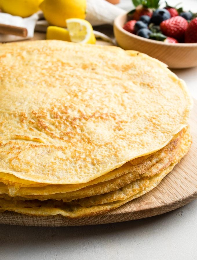 Easy Basic Crepes - Stack of the best crepes | The Worktop
