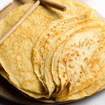 French Crepe Recipe - Stack of basic crepes for an easy breakfast